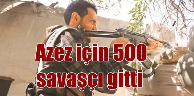 Suriyeli muhalifler, Azez Türkmenleri için Türkiye'den geçti