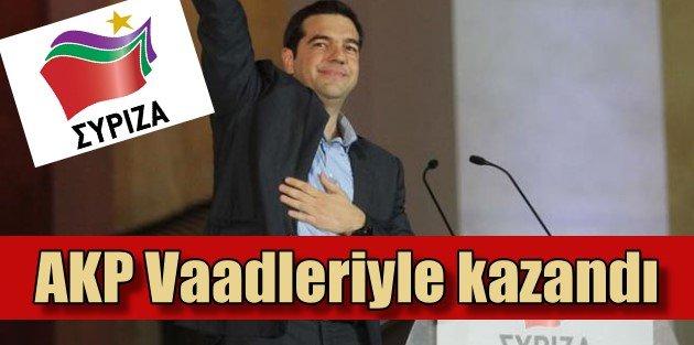 Syriza Yunanistanda AK Partinin vaadleriyle seçim kazandı