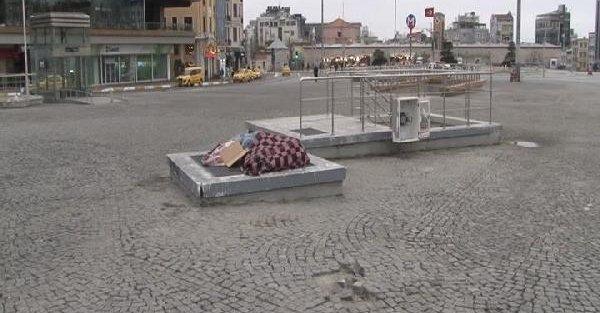 Taksim Meydanı'nın mazgaldan yatakları