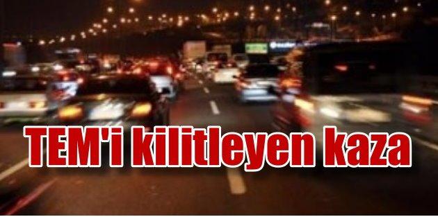 TEM Maşukiyede kaza: TIRlar trafiği kilitledi