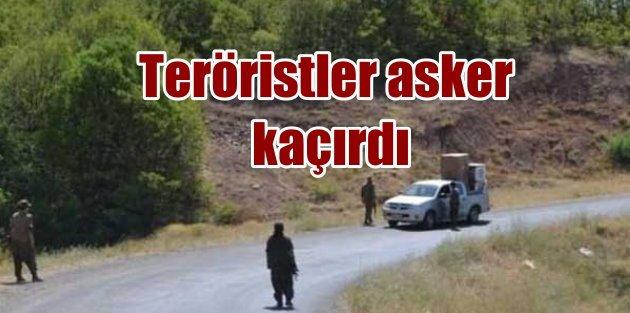 Teröristler Tuncelide yol kesti, 2 askeri kaçırdı