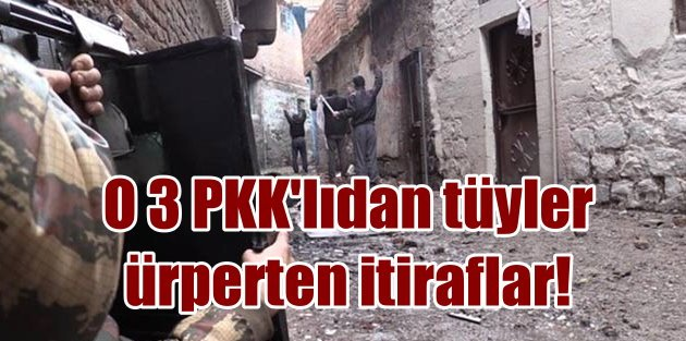 Teslim olan 3 PKK'lının itirafları; Ölenler bahçelere gömüldü