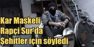Diyarbakır'da Kar Maskeli rapçi PKK yandaşlarını kızdırdı