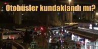 Esenler Otagar'da otobüsler alev alev yandı