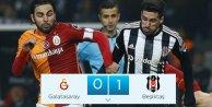 Beşiktaş'ın gözü şampiyonluk'ta Galatasaray 0 Beşiktaş 1