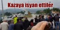 Çevre yolundaki kaza vatandaşları isyan ettirdi