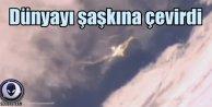 Dünyayı şaşırtan UFO görüntüleri; Düştü mü? Vuruldu mu?