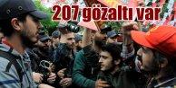 İstanbul'da 1 mayıs: 207 gözalı var