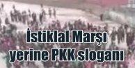 Şemdinli'de İstiklal Marşı yerine PKK sloganları atıldı