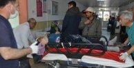 Seydişehir'de trafik kazası; Traktör devrildi, 1 ölü 9 yaralı var