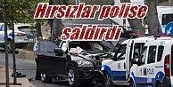 Beşiktaş#039;ta hırsızlar polise saldırdı: Korku dolu dakikalar