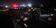 Kandıra#039;da zincirleme trafik kazası, 2 kardeş can verdi