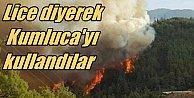 Lice diye Kumluca#039;daki orman yangını fotoğrafını kullandılar