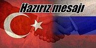 Putin'den Ankara'ya sıcak mesaj