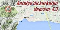 Antalya#039;da deprem, Antalya Korkuteli 4.3 depremle sarsıldı