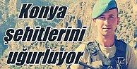 Konya şehitlerini uğurluyor, Mustafa Tünel toprağa veriliyor