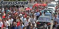Şırnak#039;ta binlerce kişi Türk bayraklarıyla yürüdü