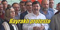 Diyarbakır#039;da PKK saldırısına bayraklı protesto