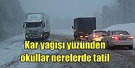 15 Aralık okullarda kar tatili haberi, hangi illerde okullar tatil