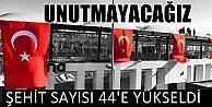 Beşiktaş'ta bombalı saldırı; Şehit sayısı 44'e yükseldi