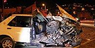 Çanakkale Çan#039;da kaza, araçlar ikiye bölündü