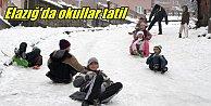 Elazığ'da ve Karakoçan'da okullar tatil