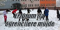 Erzurum'da okullar tatil; İl merkezinde de okullar tatil edildi