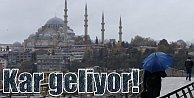 İstanbul'da hava durumu; Kar geliyor