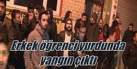 Kadıköy#039;de erkek öğrenci yurdunda korkutan yangın