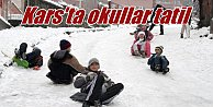 Kars'ta okullar tatil; Kar yağışı eğitimi vurdu