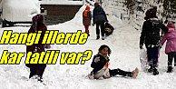 Kastamonu ve Bolu'da okullara kar tatili