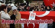 Konya şehitlerini uğurladı: Emre Horoz ve Metin Düzgün toprağa verildi