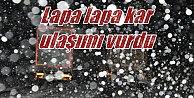 Seydişehir'de kar; Üretici sevindi, sürücüleri perişan oldu