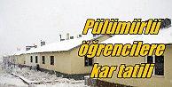 Tunceli'de okullara kar tatili 2 Aralık Cuma 2016