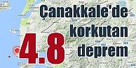 Çanakkale Gülpınar#039;da deprem; Çanakkale 4.8 ile sallandı