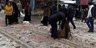 İstanbul yolları paten pistine döndü