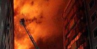 Kayseri#039;de belediye binasında korkutan yangın