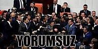 Meclis'te sabaha karşı yumruklar konuştu