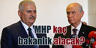 MHP#039;ye bakanlık sözü; Başkanlık sisteminde kaç bakanlık alacak?