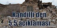 Kandilli Rasathanesi'den 5.5'luk deprem için önemli açıklama
