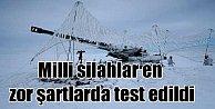 Mehmetçik#039;ten düşmana kar altında gözdağı: Milli silahlar test edildi