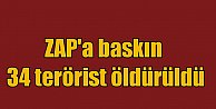 Zap#039;a hava akını: 34 PKK#039;lı terörist öldürüldü