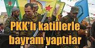 Rus askerleri, PKK bayrağı ile böyle eğlendi