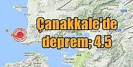Son Dakika deprem; Çanakkale#039;de deprem oldu, 4.5