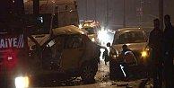 Ümraniye'de kaza, aracın motoru 200 metre fırladı