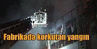 Sancaktepe#039;de fabrikada yangın: Alevler güçlükle söndürüldü