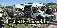 Üniversite servis minibüsünde patlama