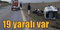 Seydişehir Akçalar#039;da feci kaza, 3 ağır 19 yaralı var