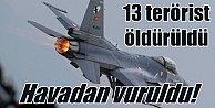 Şırnak#039;ta hava operasyonu 13 terörist öldürüldü