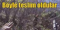 Tunceli#039;de PKK#039;lı teröristlerin teslim olma anı